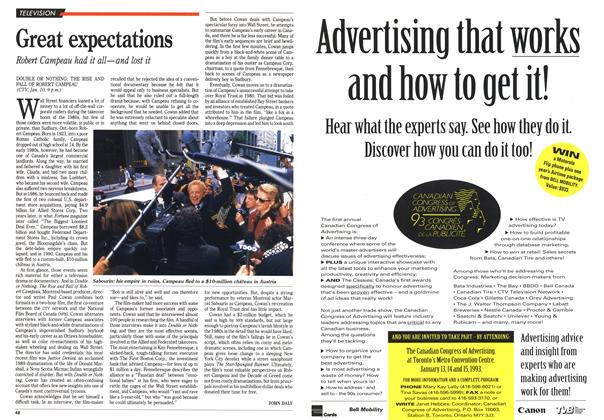 Article Preview: Great expectations, January 1993 | Maclean's