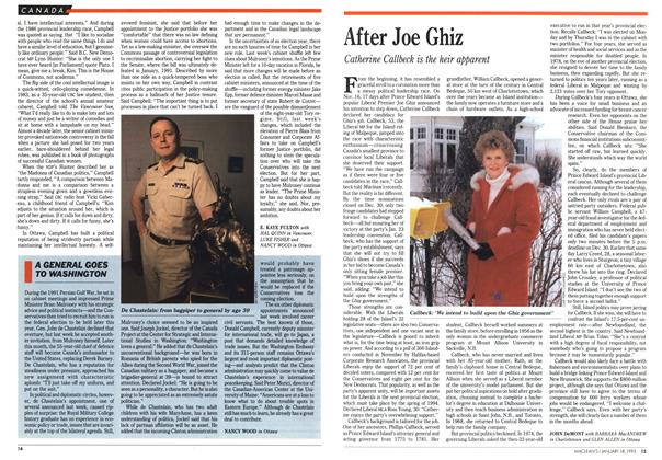 Article Preview: After Joe Ghiz, January 1993 | Maclean's