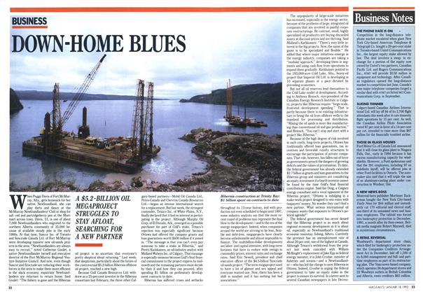 Article Preview: DOWN-HOME BLUES, January 1993 | Maclean's
