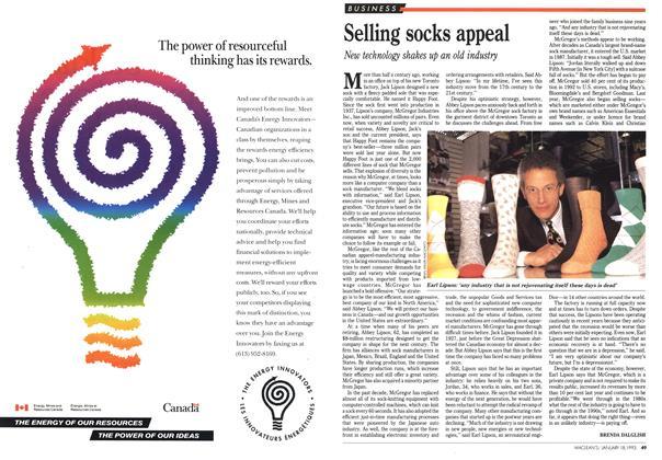 Article Preview: Selling socks appeal, January 1993   Maclean's