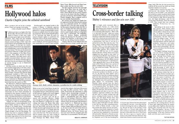 Article Preview: Hollywood halos, January 1993 | Maclean's