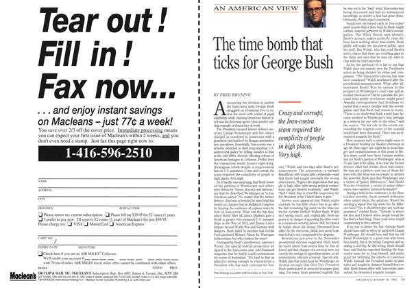 Article Preview: The time bomb that ticks for George Bush, January 1993 | Maclean's
