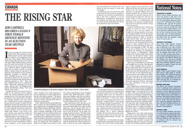 Article Preview: THE RISING STAR, January 1993 | Maclean's