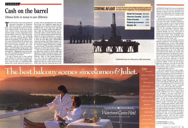 Article Preview: Cash on the barrel, January 1993   Maclean's