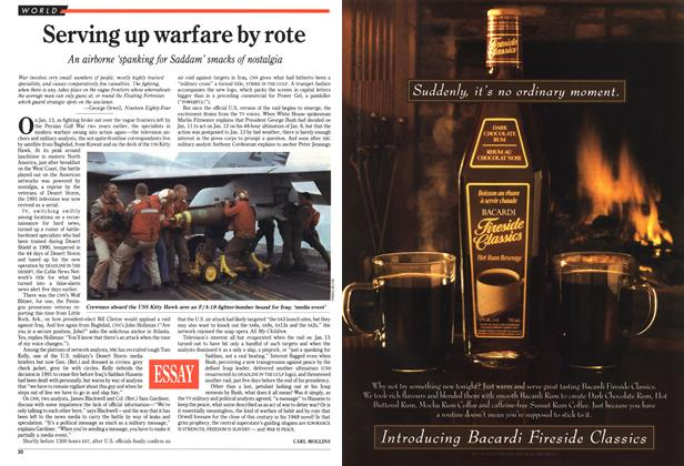Article Preview: Serving up warfare by rote, January 1993 | Maclean's