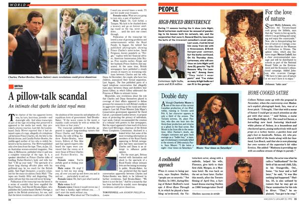 Article Preview: A pillow-talk scandal, January 1993 | Maclean's