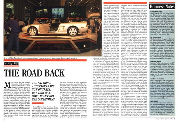 Article Preview: THE ROAD BACK, January 1993 | Maclean's