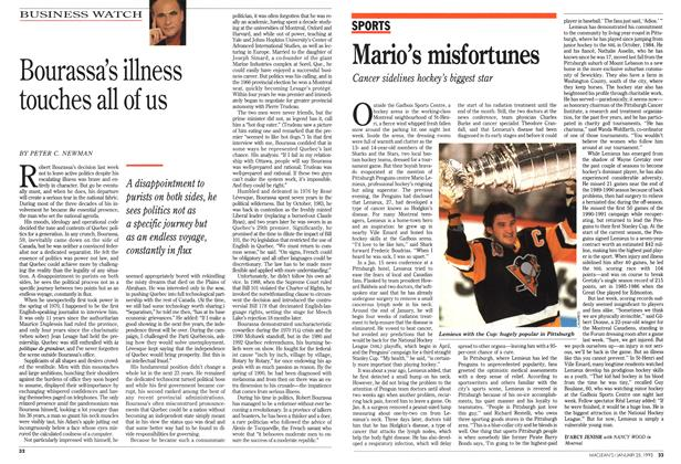 Article Preview: Mario's misfortunes, January 1993 | Maclean's