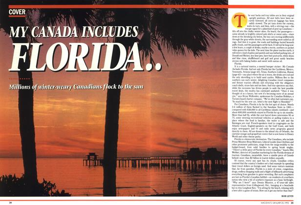Article Preview: MY CANADA INCLUDES FLORIDA..., January 1993 | Maclean's
