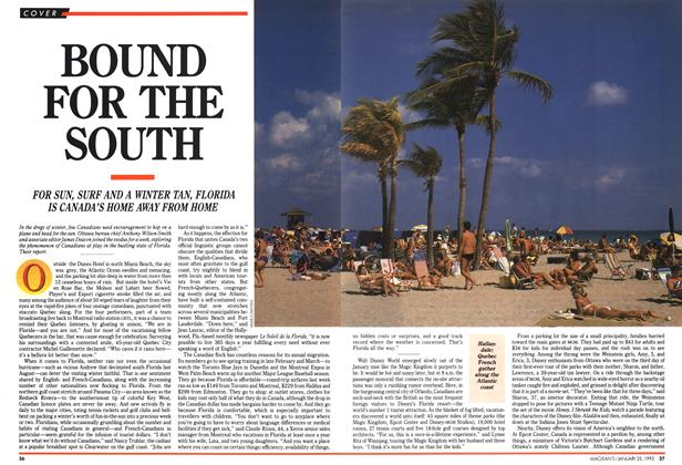 Article Preview: BOUND FOR THE SOUTH, January 1993 | Maclean's