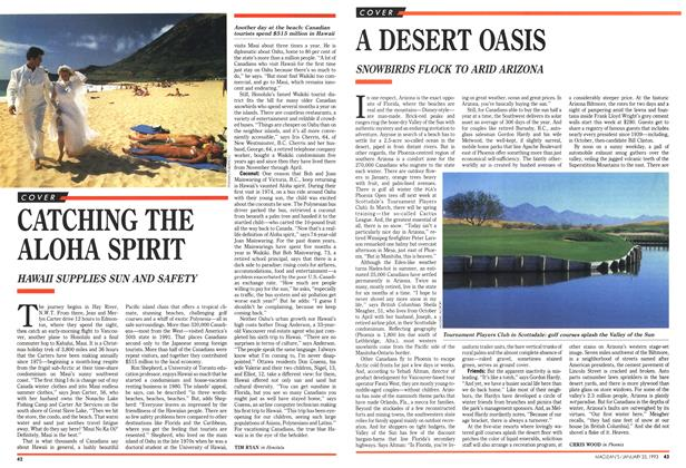 Article Preview: A DESERT OASIS, January 1993 | Maclean's