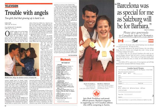 Article Preview: Trouble with angels, January 1993 | Maclean's
