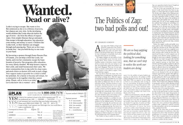 Article Preview: The Politics of Zap: two bad polls and out!, January 1993 | Maclean's