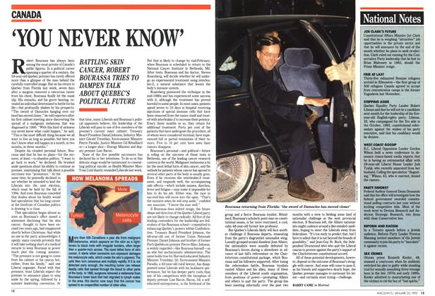 Article Preview: 'YOU NEVER KNOW', January 1993 | Maclean's