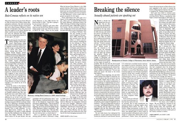 Article Preview: Breaking the silence, February 1993 | Maclean's