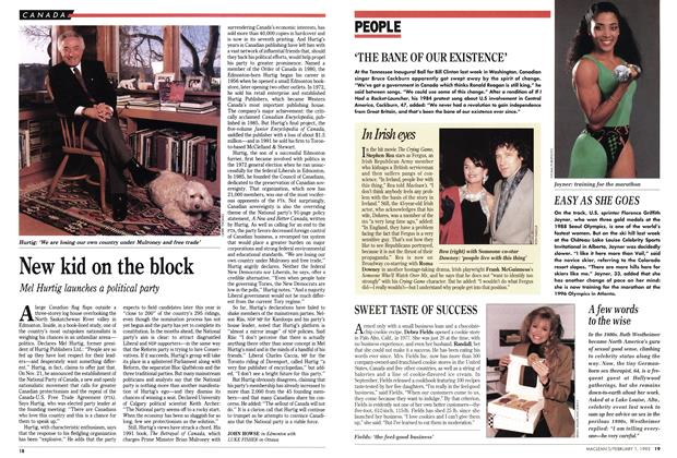 Article Preview: New kid on the block, February 1993 | Maclean's