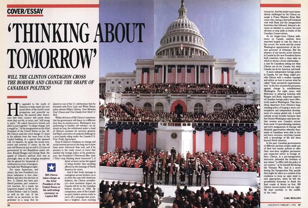 Article Preview: 'THINKING ABOUT TOMORROW', February 1993 | Maclean's