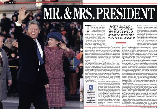 Article Preview: MT. & MRS. PRESIDENT, February 1993 | Maclean's