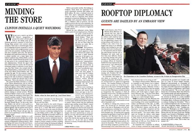 Article Preview: ROOFTOP DIPLOMACY, February 1993 | Maclean's