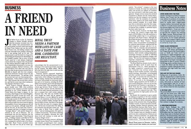 Article Preview: A FRIEND IN NEED, February 1993 | Maclean's