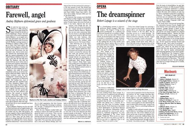 Article Preview: Farewell, angel, February 1993   Maclean's