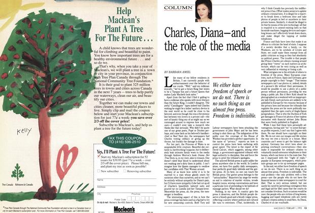 Article Preview: Charles, Diana-and the role of the media, February 1993 | Maclean's