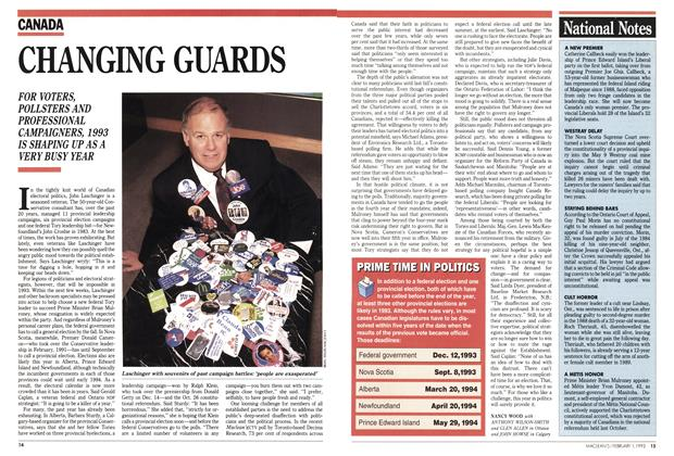 Article Preview: CHANGING GUARDS, February 1993 | Maclean's