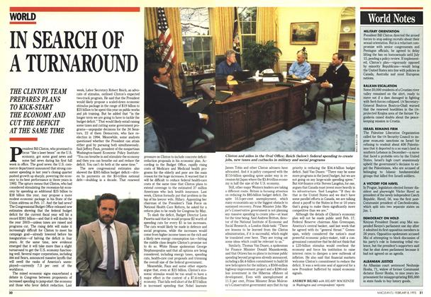 Article Preview: IN SEARCH OF A TURNAROUND, February 1993 | Maclean's