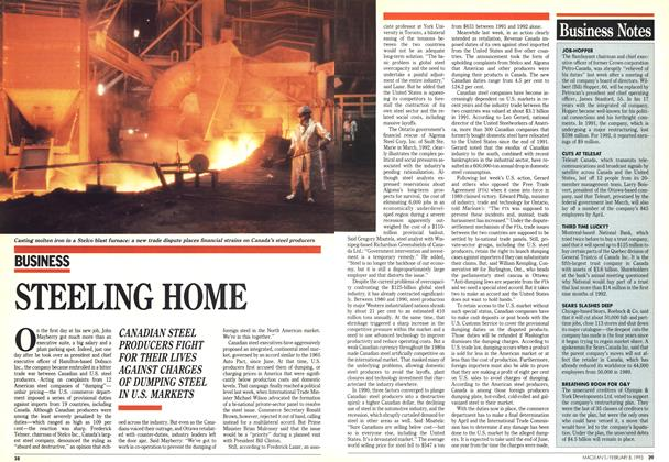 Article Preview: STEELING HOME, February 1993 | Maclean's