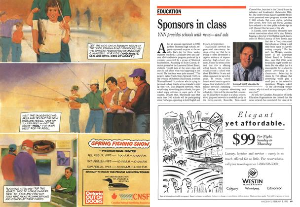 Article Preview: Sponsors in class, February 1993 | Maclean's
