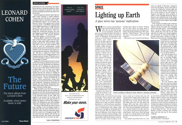 Article Preview: Lighting up Earth, February 1993 | Maclean's