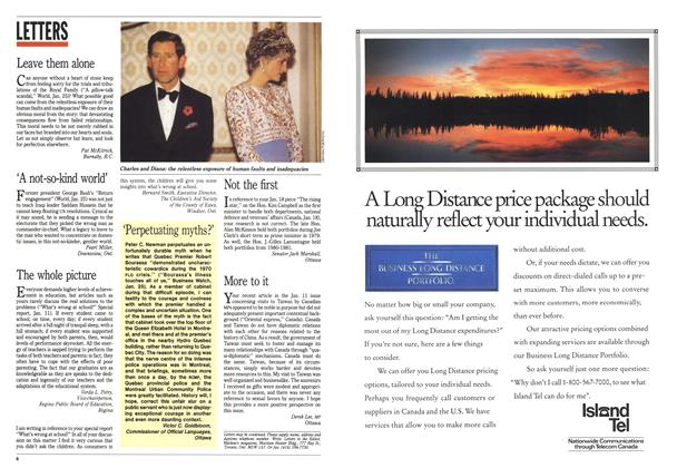 Article Preview: LETTERS, February 1993   Maclean's