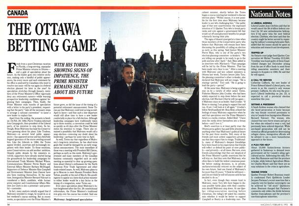 Article Preview: THE OTTAWA BETTING GAME, February 1993 | Maclean's