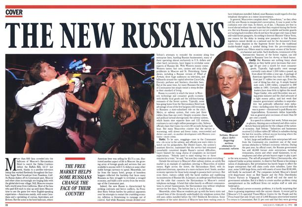 Article Preview: THE NEW RUSSIANS, February 1993 | Maclean's