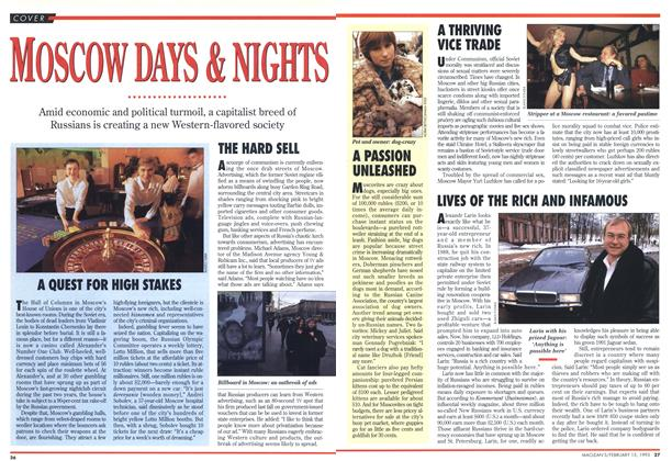 Article Preview: Moscow DAYS & NIGHTS, February 1993 | Maclean's