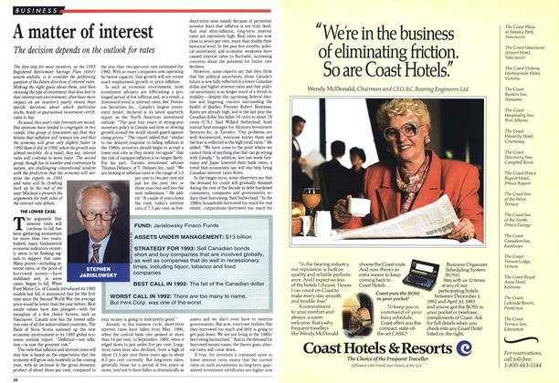 Article Preview: A matter of interest, February 1993 | Maclean's