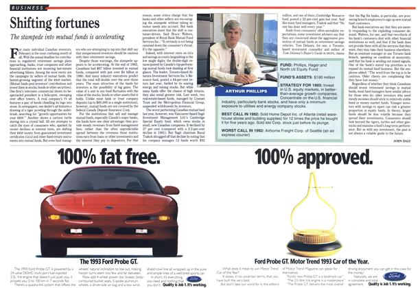 Article Preview: Shifting fortunes, February 1993 | Maclean's
