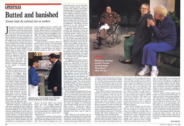 Article Preview: Butted and banished, February 1993 | Maclean's
