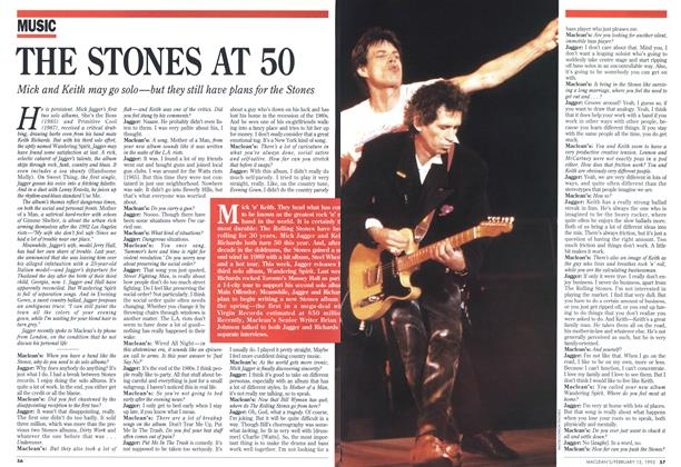 Article Preview: THE STONES AT 50, February 1993 | Maclean's