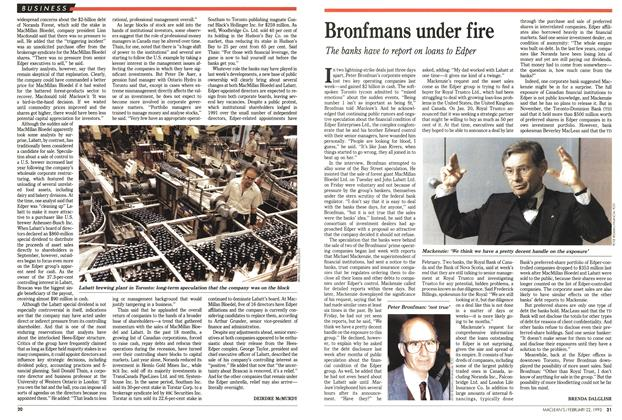 Article Preview: Bronfmans under fire, FEBRUARY  1993 | Maclean's