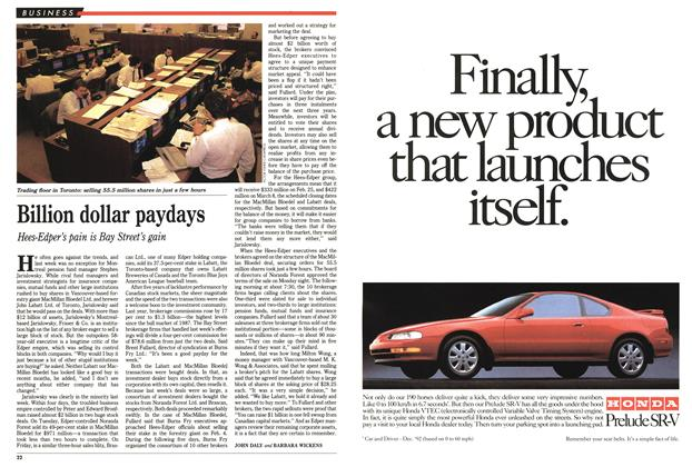 Article Preview: Billion dollar paydays, FEBRUARY  1993 | Maclean's