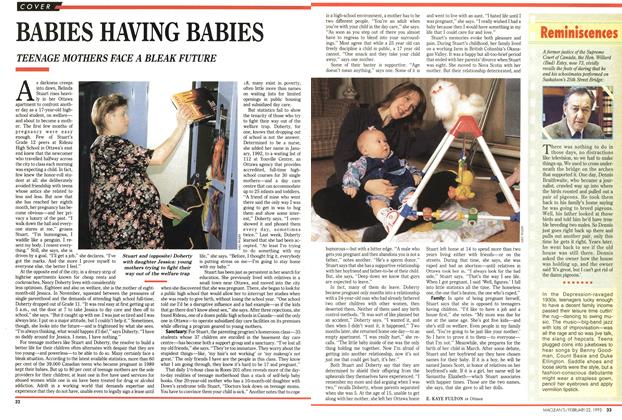 Article Preview: BABIES HAVING BABIES, FEBRUARY  1993 | Maclean's