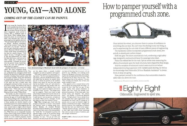 Article Preview: YOUNG, GAY-AND ALONE, FEBRUARY  1993 | Maclean's