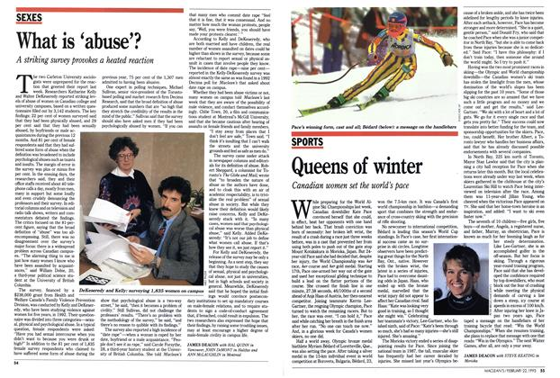 Article Preview: Queens of winter, FEBRUARY  1993 | Maclean's