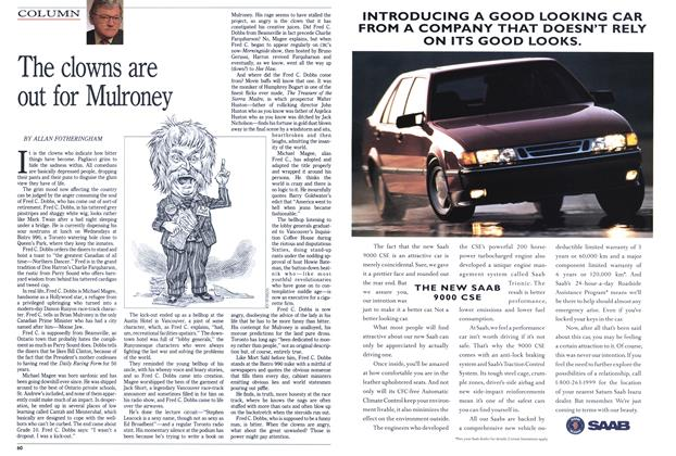 Article Preview: The clowns are out for Mulroney, FEBRUARY  1993 | Maclean's