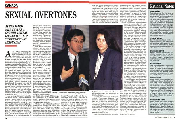 Article Preview: SEXUAL OVERTONES, FEBRUARY  1993 | Maclean's