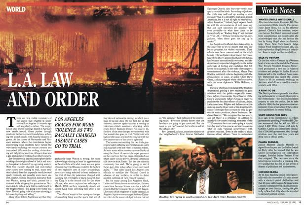 Article Preview: L.A. LAW AND ORDER, FEBRUARY  1993 | Maclean's