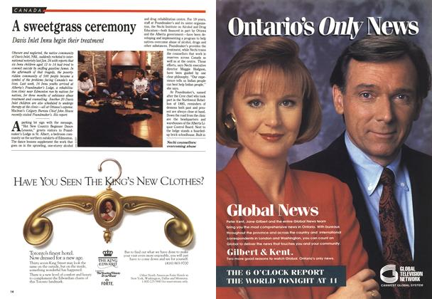 Article Preview: A sweetgrass ceremony, March 1993 | Maclean's