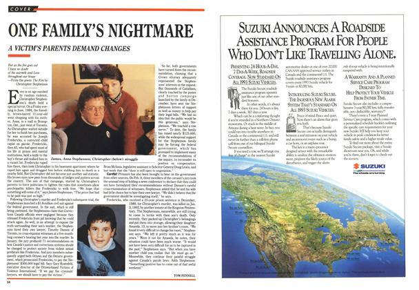 Article Preview: ONE FAMILY'S NIGHTMARE, March 1993 | Maclean's
