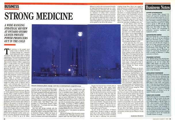 Article Preview: STRONG MEDICINE, March 1993 | Maclean's